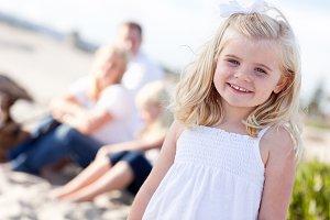 Adorable Little Blonde Girl Having F