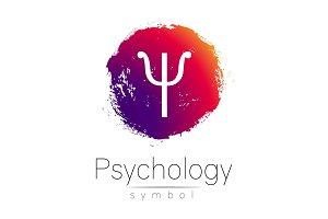 Modern logo of Psychology. Psi