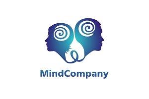 Modern head logo of Psychology