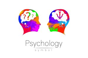 Modern head Logo sign of Psychology