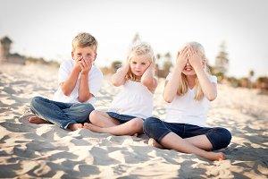 See, Hear and Speak No Evil Children