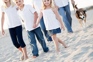 Adorable Little Girl Leads Her Famil