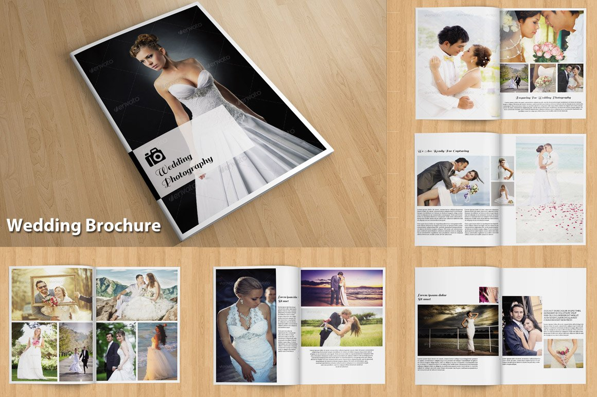 InDesign: Wedding brochure-V114 ~ Brochure Templates ~ Creative Market