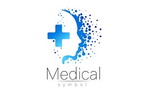 Vector medical sign with cross