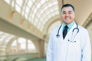 Handsome Hispanic Male Doctor or Nur