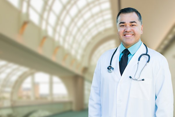 Handsome Hispanic Male Doctor or Nu…