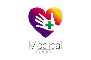 Vector medical sign with cross on