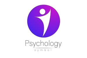 Modern man Sign of Psychology. Human