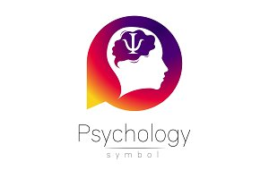 Modern head Sign of Psychology