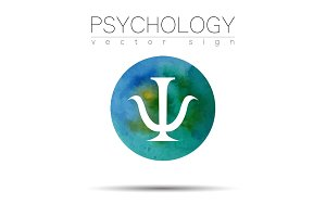 Modern sign of Psychology. Psi