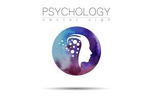 Modern head sign of Psychology