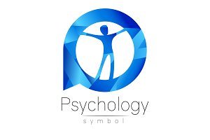 Modern man Logo Sign of Psychology