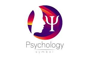 Modern head Logo sign of Psychology