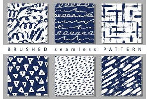 Vector Set seamless pattern with