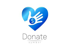 Donation sign icon. Donate money