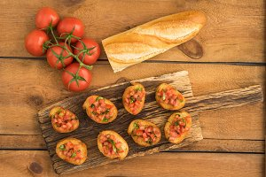 Bruschetta with baguette