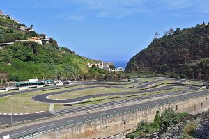 Picturesque go-cart racing
