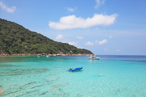 The shores of Similan Islands