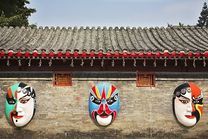 The painted huge masks