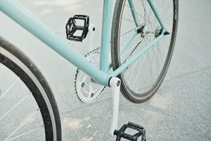 Hipster Fix Gear Bicycle on Street
