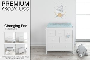 Baby Changing Pad Mockup Set