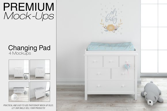 Download Baby Changing Pad Mockup Set