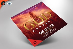 God of Wonders Gospel Concert Flyer