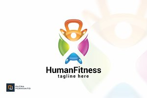 Human Fitness - Logo Template