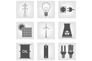 Energy, Electricity Icons