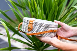 Fashionable stylish rattan bag