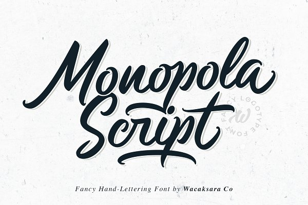 Script Fonts: Wacaksara Co. - Monopola