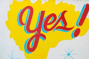 YES! vintage sign