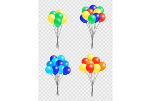 Bunch Helium Colorful Air Balloons