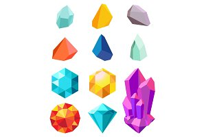 Precious Stones Collection Vector