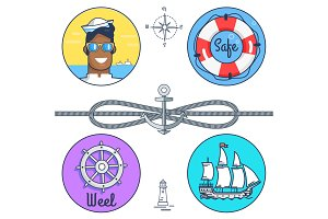 Safe and Wheel Collection Vector