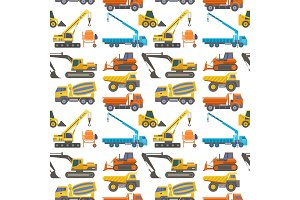 Construction delivery truck vector