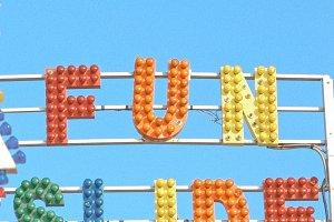 FUN SLIDE Vintage Carnival Sign