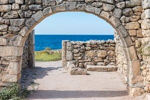 Ancient city Chersonese, ruins of Ba