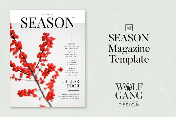 Magazine Templates: Wolfgang Design - SEASON Magazine Template