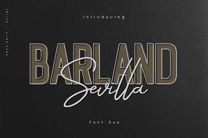 Barland Sevilla script & sans duo