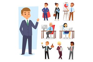Businessman vector people work place