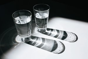 Close up photo of two glasses of