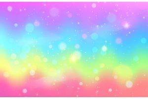Unicorn rainbow wave background