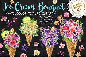 Ice cream Bouquets clipart