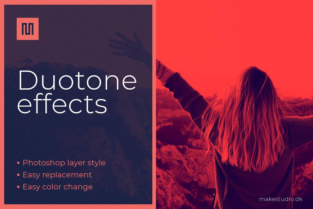 Duotone effect - Photoshop effect ~ Photoshop Add-Ons