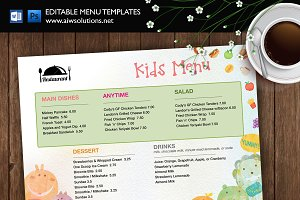 Kids Food Menu template id37
