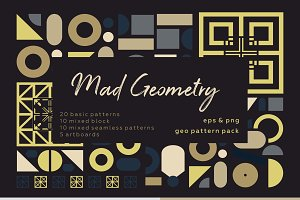 Mad Geometry. Geometric pattern set.