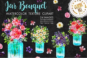 Jar Bouquet clipart