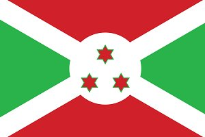 Vector of Burundi flag.