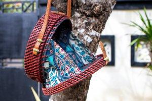 Fashionable stylish rattan bag